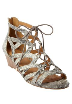 Frieda Sandals by Comfortview, GREY MULTI SNAKE, hi-res
