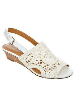 Vana Sandals by Comfortview®, WHITE CROCHET, hi-res