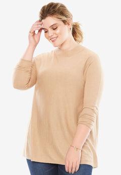 The Peek-A-Boo Back Sweater, NEW KHAKI, hi-res