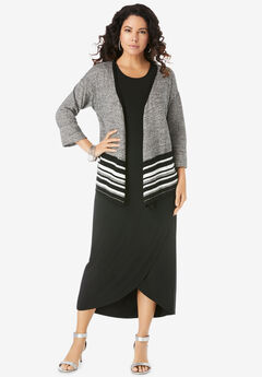 Flyaway Knit Jacket Dress,