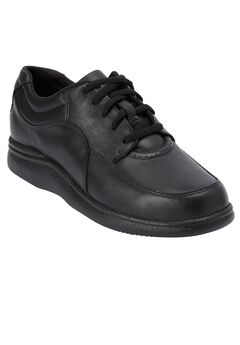 Power Walker Leather Sneakers by Hush Puppies®, BLACK, hi-res