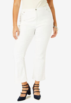Crop Flare Jean by Denim 24/7®, WHITE DENIM