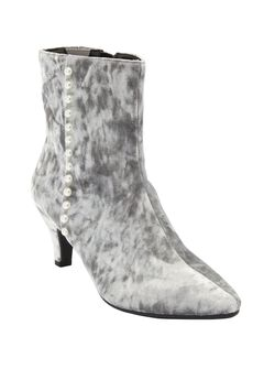 The Larsa Bootie by Comfortview®, SILVER, hi-res