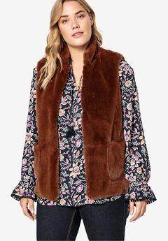 Faux Fur Vest Castaluna by La Redoute,