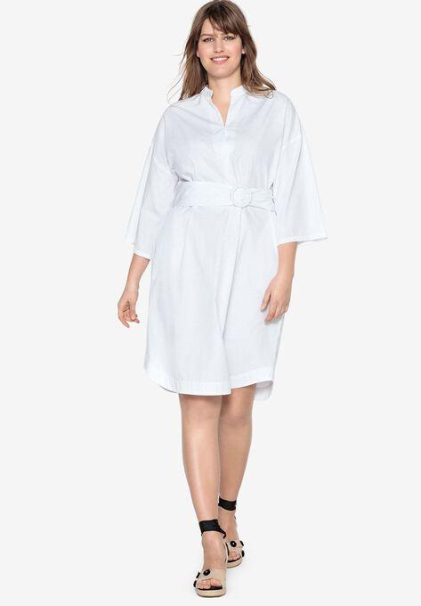Inverted Pleat Dress by Castaluna| Plus Size Work Dresses | Roaman\'s