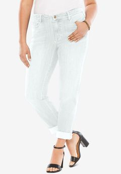 Boyfriend Jean with Invisible Stretch®, WHITE DENIM