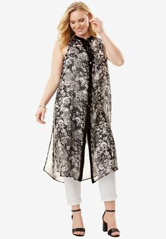 Open-Front Maxi Tunic,