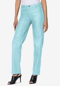Straight-Leg Jean with Invisible Stretch® by Denim 24/7®, LIGHT AQUA