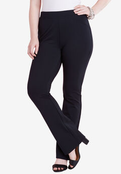 Bootcut Stretch Pant, BLACK, hi-res