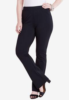Bootcut Stretch Pant, BLACK, hi-res