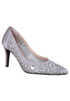 Camallia Pump by J. Renee®, SILVER, hi-res