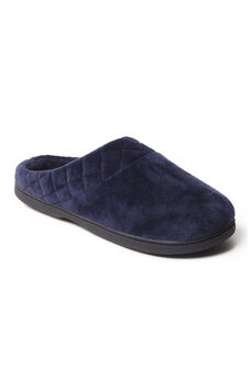 Darcy Microfiber Velour Clog with Quilted Cuff ,