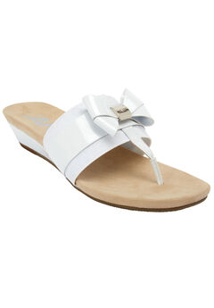 Impeccable Sandals by Anne Klein®, WHITE, hi-res