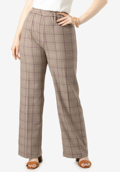 Bend Over® Wide-Leg Pant, BEIGE PLAID