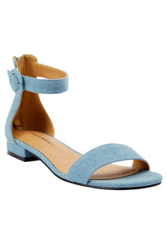 Alora Sandals by Comfortview®, LIGHT DENIM, hi-res