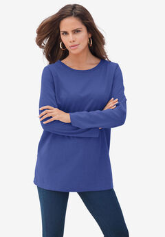 Long-Sleeve Crewneck Ultimate Tee, ULTRA BLUE