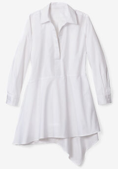 Asymmetric Tunic with High-Low Hem,