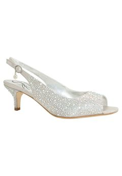 Impuls Sling Back Pumps by J. Renee®, SILVER, hi-res