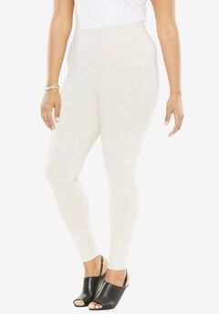 Ankle-Length Stretch Legging, HEATHER OATMEAL, hi-res