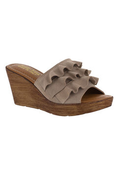 Bey-Italy Sandals by Bella Vita®, ALMOND SUEDE, hi-res
