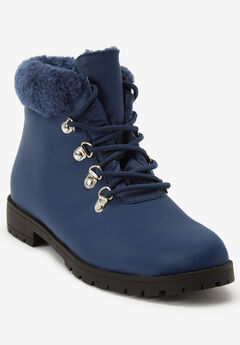 The Vylon Hiker Bootie , NAVY