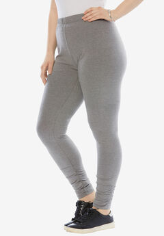 Ruched Legging, MEDIUM HEATHER GREY