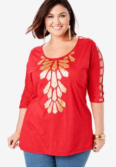 7b10689c1f14af Women's Plus Size Tops | Roaman's