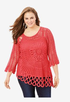 Starburst Crochet Sweater,