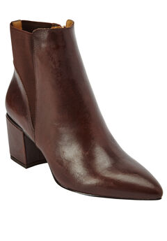 Maxton Leather Booties by Comfortview, BROWN, hi-res