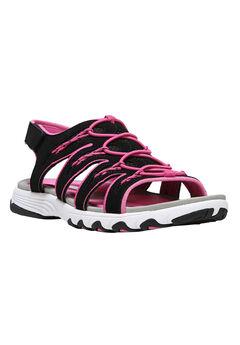 Glance Sandals by Ryka®, BLACK PINK, hi-res