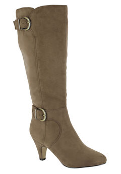 Toni II Regular Calf Boots by Bella Vita®, FAWN SUPER SUEDE