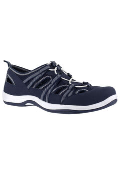 Campus Sneakers by Easy Street®, NAVY LEATHER FABRIC, hi-res