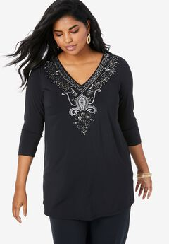 Ultra Smooth Embellished Tunic,