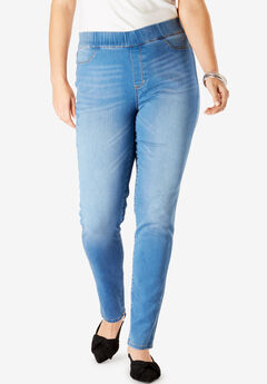 The No-Gap Jegging by Denim 24/7®, LIGHT STONEWASH