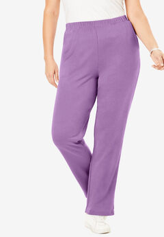 Straight-Leg Soft Knit Pant, DUSTY LAVENDER