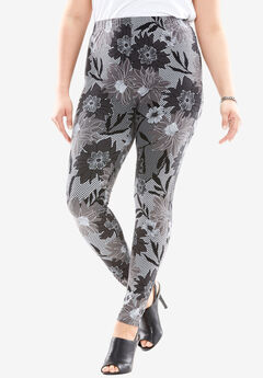 Lace Printed Leggings,