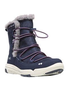 Aubonne Wide Calf Boots by Ryka®, BLUE GREY, hi-res