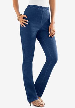 Straight-Leg Pull-On Stretch Jean by Denim 24/7®,