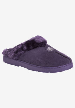 Clog with Fur Lining by Muk Luks®, PURPLE