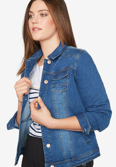 Classic Denim Jacket by Castaluna, MEDIUM STONEWASH, hi-res