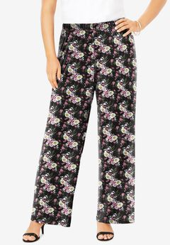 Ultra Smooth Wide-Leg Pant, PEONY FLORAL
