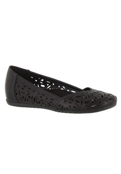 Charlize Elevated Flat by Easy Street®, BLACK, hi-res