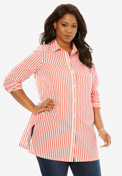 Kate Tunic, CORAL RED STRIPE, hi-res