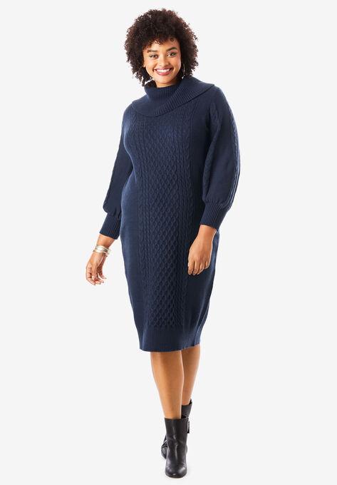 Turtleneck Sweater Dress