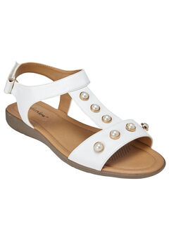Annalise Sandals by Comfortview®, WHITE, hi-res