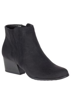 Gleda Booties by Soft Style, BLACK NUBUCK, hi-res