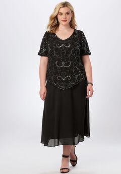 Sequin Beaded Top, BLACK