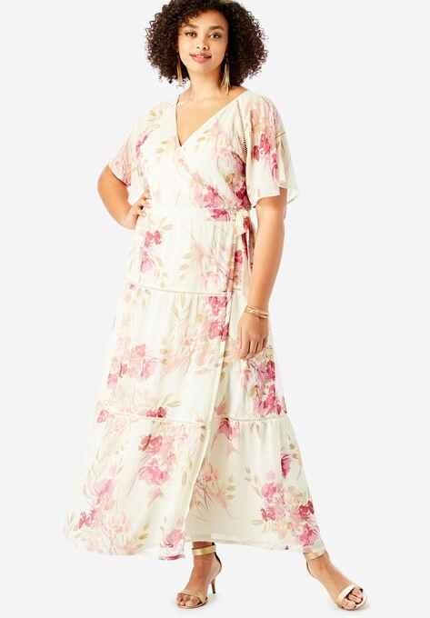 86c35740591 Surplice Maxi Dress in Crinkle