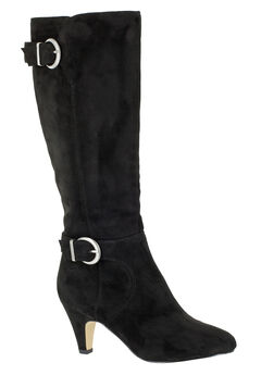 Toni II Regular Calf Boots by Bella Vita®, BLACK SUPER SUEDE