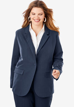 Fitted Blazer, NAVY